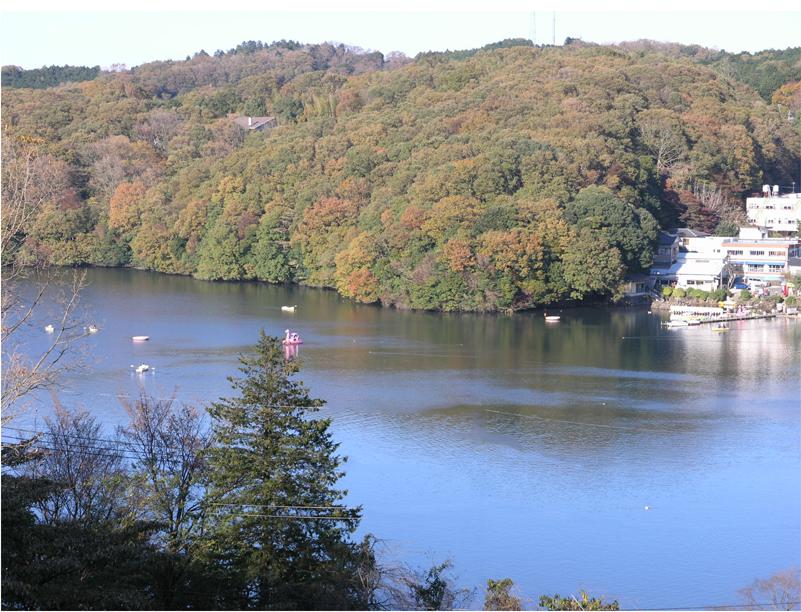晩秋の一碧湖-002